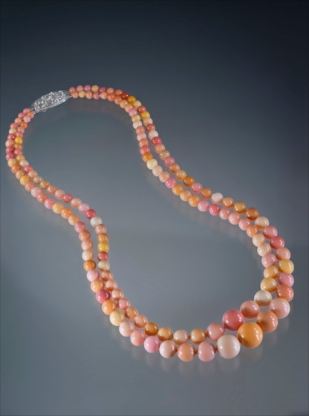 Conch Pearl Necklace, clasp signed Cartier